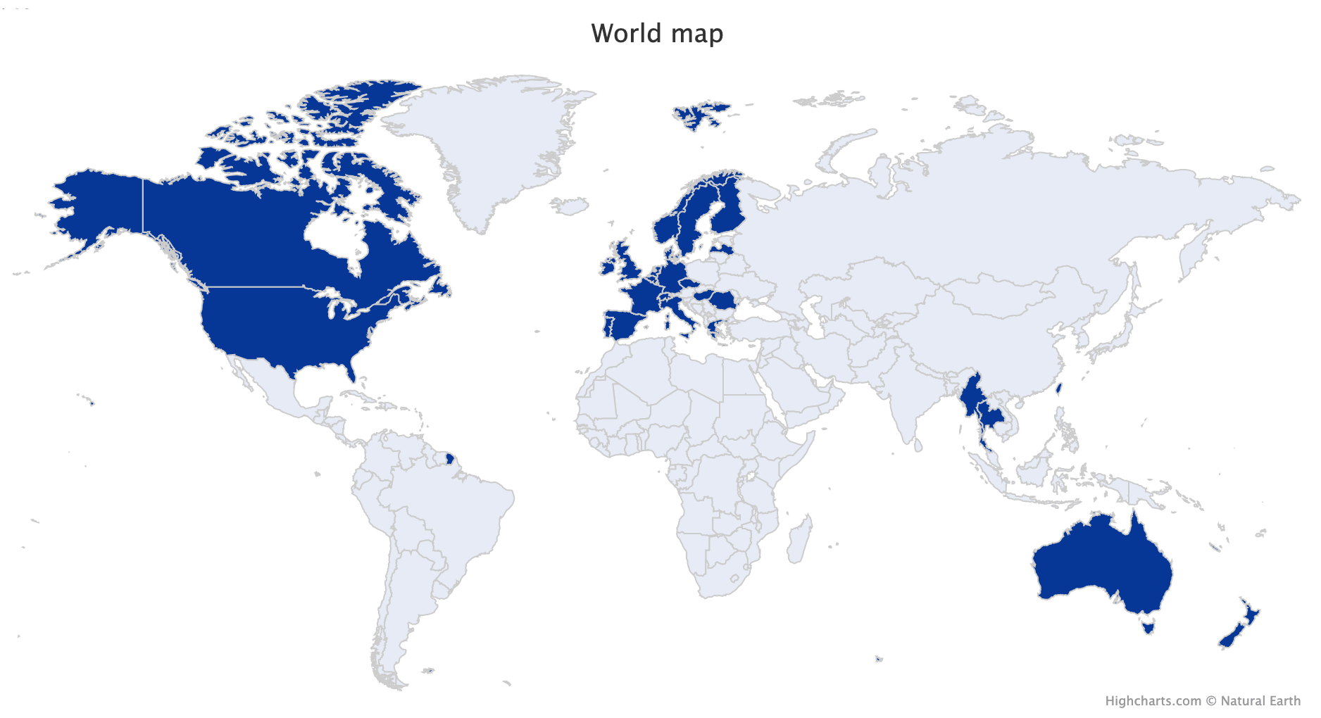 Picture of: World Map Of Visited Countries In R Stats And R